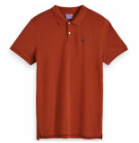 Scotch & Soda classic polo oranje
