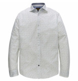 PME Legend Long sleeve shirt dobby print garcy bright white wit