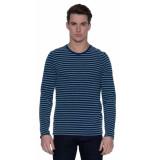 Denham T-shirt met lange mouwen blauw