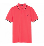 Fred Perry Twin tipped polo calypso coral
