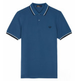 Fred Perry Twin tipped polo midnight blue blauw