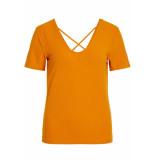 VILA Vialbie t-shirt 14055457 golden oak geel
