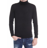 Genti Knit roll neck black zwart