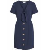 VILA Vimani s/s dress 14053188 navy r blauw