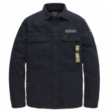 PME Legend Long sleeve shirt herringbone salute blauw