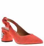 SVNTY Antwerp Sandalen op hak oranje rood