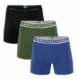 Muchachomalo Men 3-pack short solid/solid/solid zwart