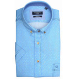 Giordano 916021/61 overhemd met korte mouwen blauw