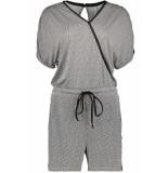 Zoso Aiko short jumpsuit 193 black/white zwart