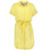 Noisy may Nmmai s/s shirt dress 3 27006730 dandelion/sugar swiz geel