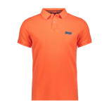 Superdry Hyper classic pique polo m11010et fluro orange bordeaux
