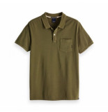 Scotch & Soda dyed polo groen