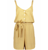 Pieces Pccaya playsuit 17097699 white pepper/bright white geel