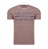 PME Legend Woodrose striped jersey rood