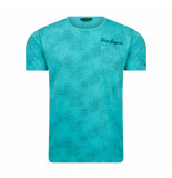 PME Legend Aop jersey tee turquoise blauw
