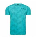 PME Legend Aop jersey tee turquoise blauw