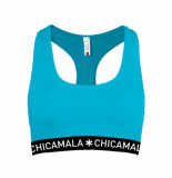 Muchachomalo Girls racer back solid groen