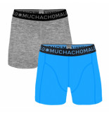 Muchachomalo Boys 2-pack short solid/solid grijs