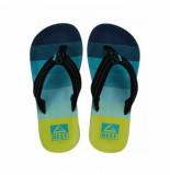 Reef Slipper ahi aqua green kids blauw