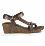Teva Women ysidro universal wedge metallic brown metallic bruin