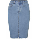 Noisy may Nmbe lexi hw mb pencil denim skirt 27002616 medium blue denim blauw
