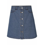Noisy may Nmsunny shortdnm skater skirt gu123 27000431 medium blue denim blauw