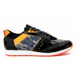 Seikatsu Sneakers combi zwart