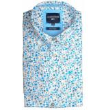 Commander Korte mouw overhemd 214007249/100 blauw