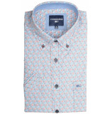 Commander Korte mouw overhemd 214007233/600 blauw