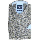 Commander Korte mouw overhemd 214007244/600 blauw