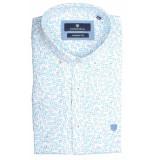 Basefield Korte mouw overhemd 219014278/601 licht blauw