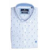 Basefield Korte mouw overhemd 219014371/611 blauw