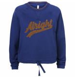 Summum 3s4325-30076 439 sweater alright indigo blue blauw