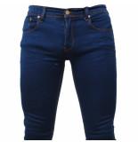 Biaggio Jeans Heren jeans skinny stretch lengte 32 denim blauw