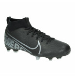 Nike Jr superfly 7 academy fg/mg at8120-001 zwart