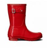 Hunter Regenlaars original short gloss military red rood
