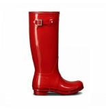 Hunter Regenlaars original tall gloss military red rood