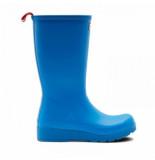 Hunter Regenlaars women original play boot tall bucket blue blauw
