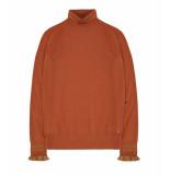 10 Feet Fine knit roll neck pullover bruin