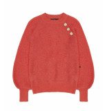 10 Feet Puff sleeve pullover lenght rood