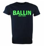 Ballin New York Heren tshirt ronde hals fluoriserend groen blauw