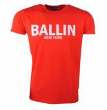 Ballin New York Heren tshirt ronde hals rood