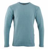 Indicode Heren trui fijn gebreid ronde hals clere blue surf blauw