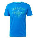 Tom Tailor Heren tshirt ronde hals blauw