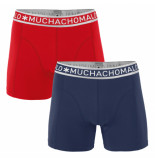Muchachomalo Boys 2-pack short solid/solid blauw