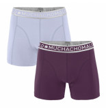 Muchachomalo Men 2-pack short solid/solid paars
