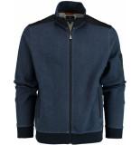 Baileys Vest met rits 912215/555 gebreid blauw