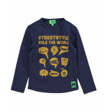Funky XS T-shirt bss1 streetstyle tee blauw