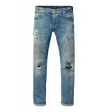 Scotch & Soda Tye chop chop slim carrot fit blauw