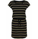 Only Onlmay s/s dress noos 15153021 black/double yolk zwart